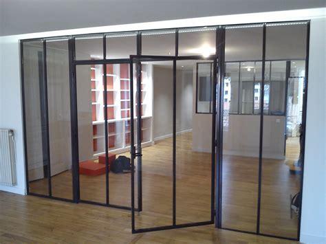 Formidable Portes D Interieur Vitrees #2: Baie-vitrée-intérieur-metal-design-lyon.jpg