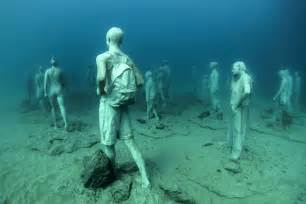 Jason decaires taylor submerges underwater museum off the coast of