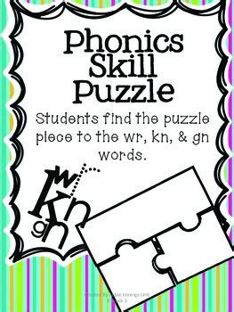kn pattern words phonics skill pack wr gn kn tpt