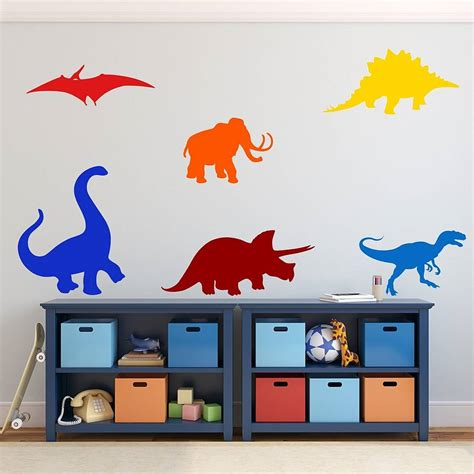 wall stickers dinosaurs dinosaurs wall stickers by mirrorin