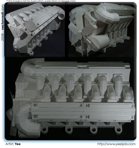 Papercraft Engine - paper vectorvault your imagination is the combination