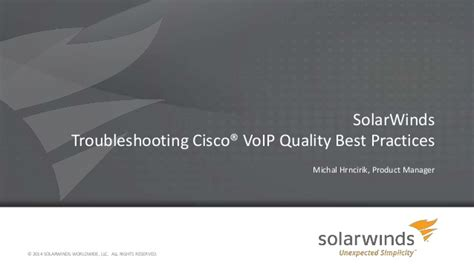 best voip quality solarwinds troubleshooting cisco voip quality best practices