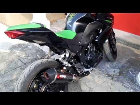 Slip On Ninja250 Z250 R25 Mt25 Knalpot Racing Akra Gard Rainbow ニンジャ250 z250 videolike