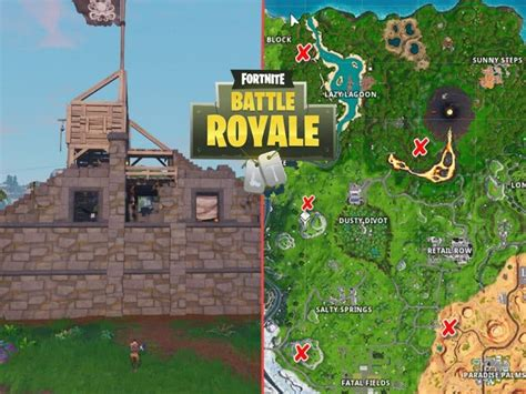fortnite pirate camps locations game life
