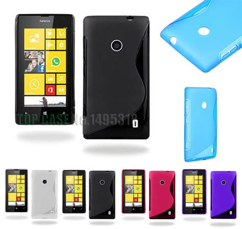 Casing Nokia Lumia 520 Housing Fullset Backcase Back Door Cover new soft silicone tpu gel s line skin back cover for nokia lumia 520 n520 cellphone