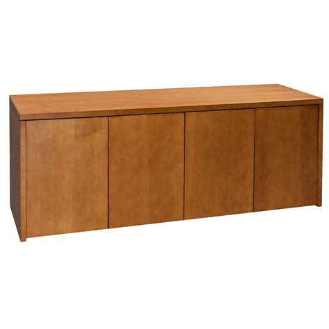 Credenza Cherry 4 drawer wood credenza cherry national office interiors and liquidators