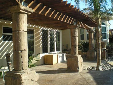 Patio Columns by Columns And Rock Tables By Arizona Falls Las Vegas