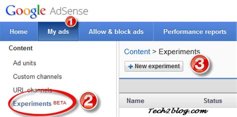 adsense experiments create a b experiments for ad unit settings within adsense