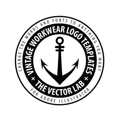 Logo Templates Vintage Workwear Thevectorlab Logo Template