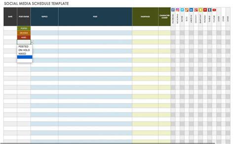 Free Social Media Calendar Templates Smartsheet Social Media Template
