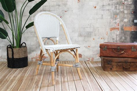 Vintage Verandah Ls by Miami Side Chair Grey White Ls Naturally Rattan And