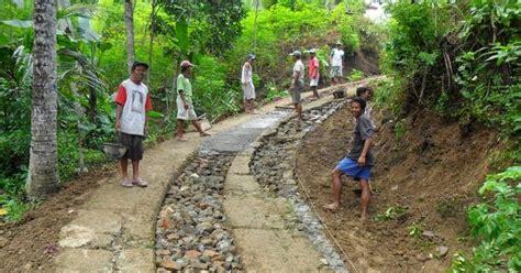 contoh pembangunan jalan lingkungan