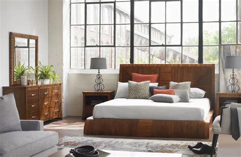 milan medium brown platform bedroom set from somerton