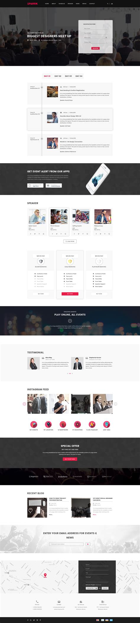 Sparrk Event Bootstrap Template sparrk event psd template by codecarnival themeforest