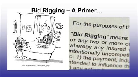 bid rigging opinions on bid rigging
