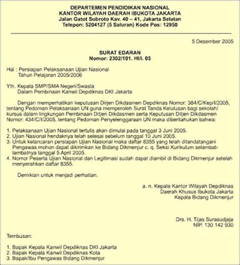 contoh surat dinas pemerintah daerah