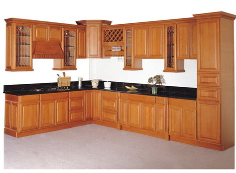Kitchen With Wood Cabinets Solid Wood Kitchen Cabinets Marceladick