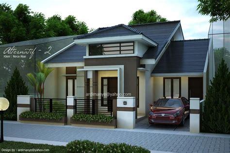 gambar desain rumah tak depan modern minimalis makassar gowa takalar portofolio desain