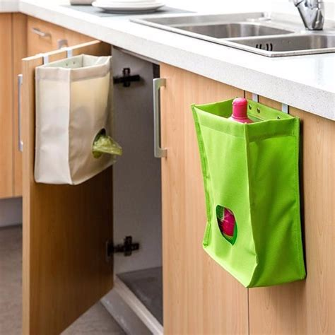 kitchen storage bag drawer cabinet door back garbage bag