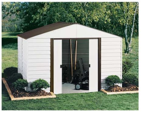Metal Shed Assembly by Parkview Steel Shed By Arrow