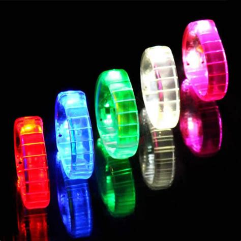 light up dog shoes flashing silicon led bracelet light up sound controlling