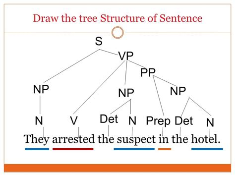 structure tree diagram tree diagrams labelling phrases ppt