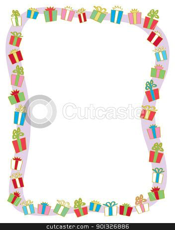 Clipart Border Of Gifts And by Present Border Clipart 32