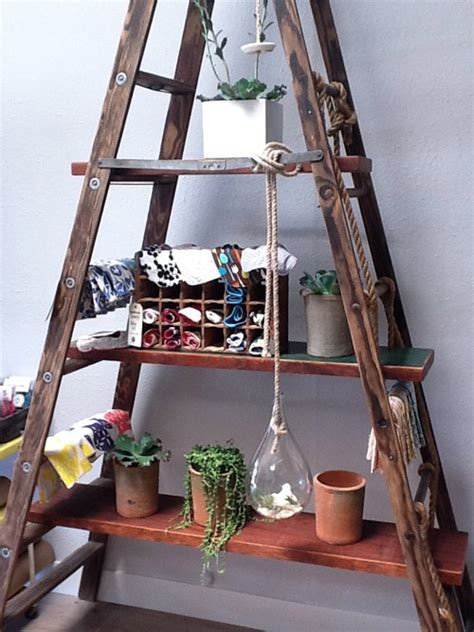 diy ladder shelves adorn your home with diy shelf decozilla