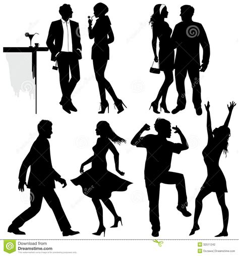 party silhouette people silhouettes party www imgkid com the image kid