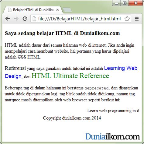 tutorial membuat website e learning belajar html tutorial belajar format text html