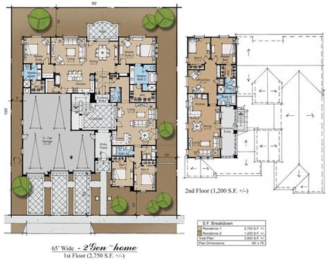 multigenerational homes plans multigenerational house plans 3gen hacienda plan