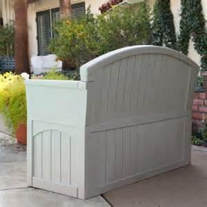 resin patio bench suncast ultimate 50 gallon resin patio storage bench