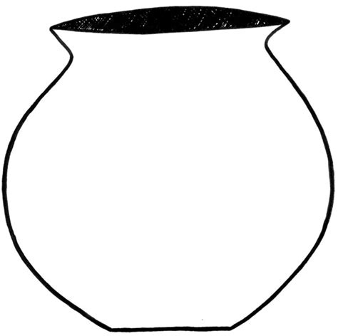 Water Pot Outline by Clay Pot Outline Clipart Best