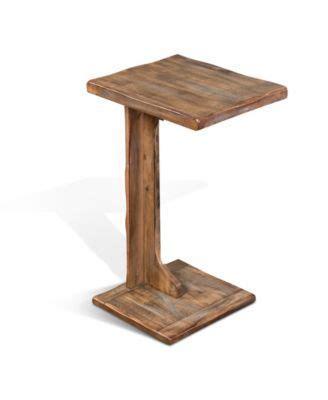 sunny designs arizona weathered brown sofa mate table