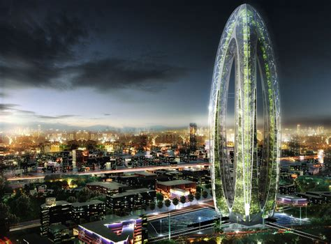Future Building Designs Bionic Arch Is A Futuristic Green Skyscraper For Taichung