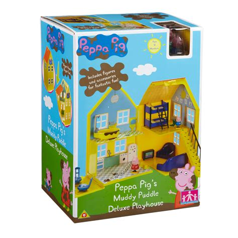 peppa pig house playset muddy puddle deluxe playhouse from peppa pig wwsm