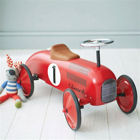 retro cer retro style ride on racing car by oskar catie