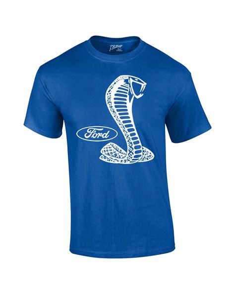 ford mustang cobra t shirt white silhouette ebay