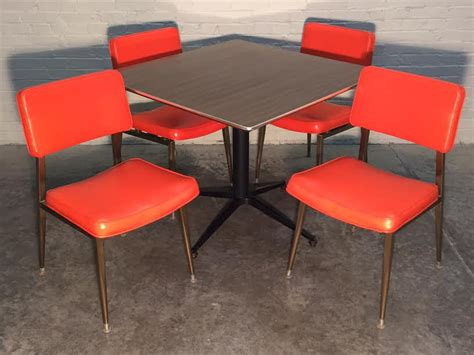 vintage mid century kitchen dining table w 4 chairs