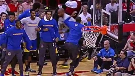 warriors bench reaction andre iguodala gives best bench reaction of the season