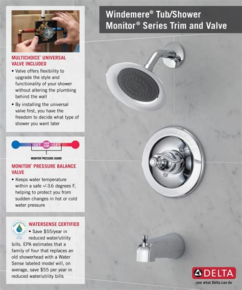 Glacier Bay Shower Faucet Temperature Adjustment by Delta Monitor Shower Faucet Temperature Adjustment Delta