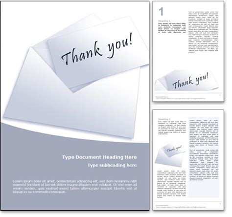 thank you card template word doc thank you card template word
