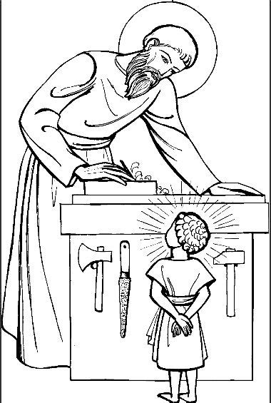 coloring pages jesus and joseph pin by jacqueline corbine on catholic crafts