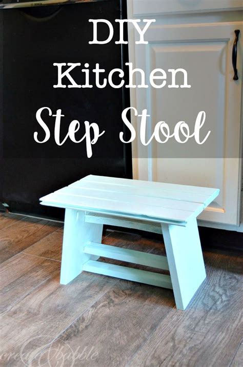 Diy Step Stool by Diy Kitchen Step Stool Create And Babble
