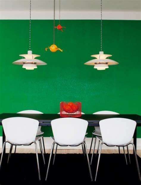 schöne wandleuchten esszimmer wandfarbe idee