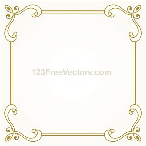 design frame vector vintage gold frame design vector graphics on behance