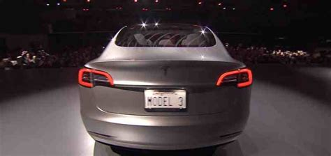 tesla model 3 back احدث اخبار السيارات 2016 شاهد بالصور تيسلا موديل 3 2017