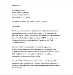 Sle Letter Of Intent For Business Deal 10 Business Letter Of Intent Templates Free Sle Exle Format Free Premium
