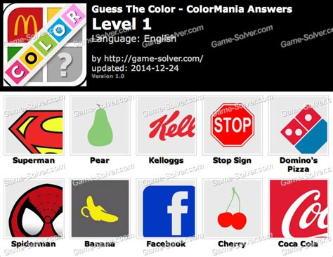 guess the color answers guess the color colormania answers solver