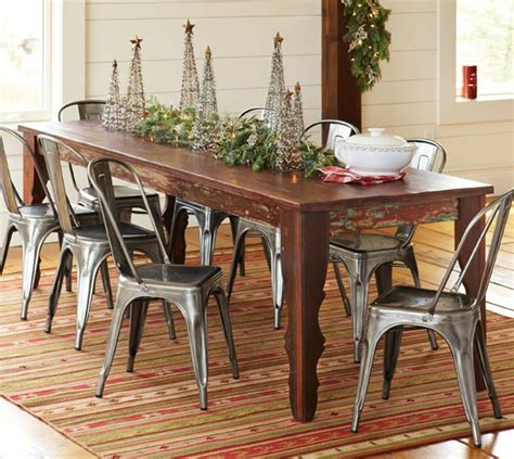dining room farmhouse table with metal chairs folding 336 best images about living room dining room on pinterest